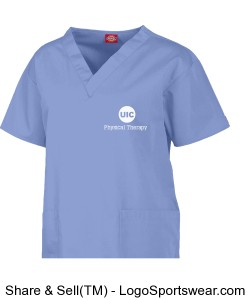 Dickies Medical Ladies V-Neck Scrub Top - In 8 Colors Design Zoom